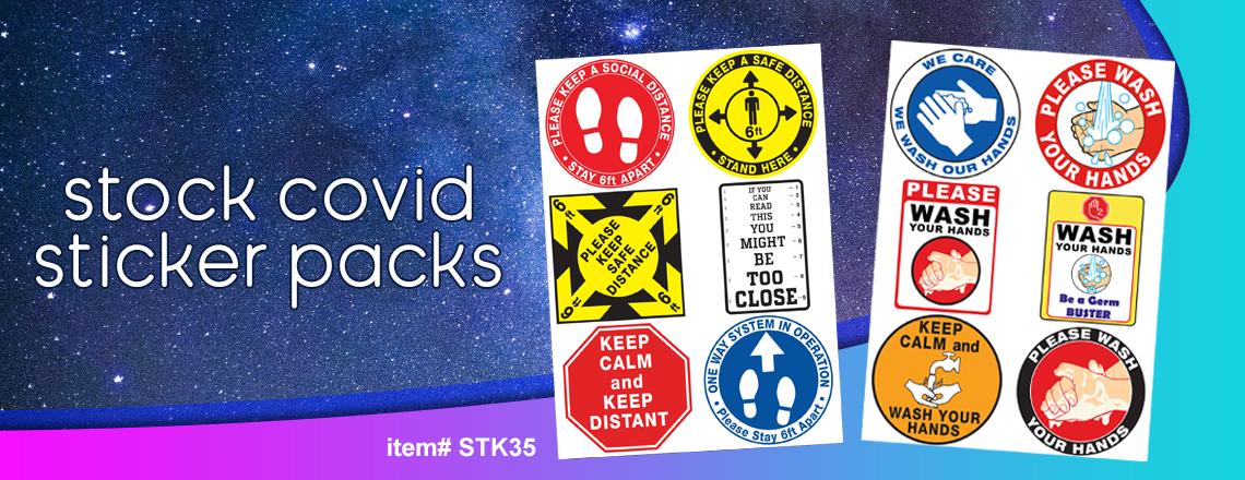 Stock Covid Stickers