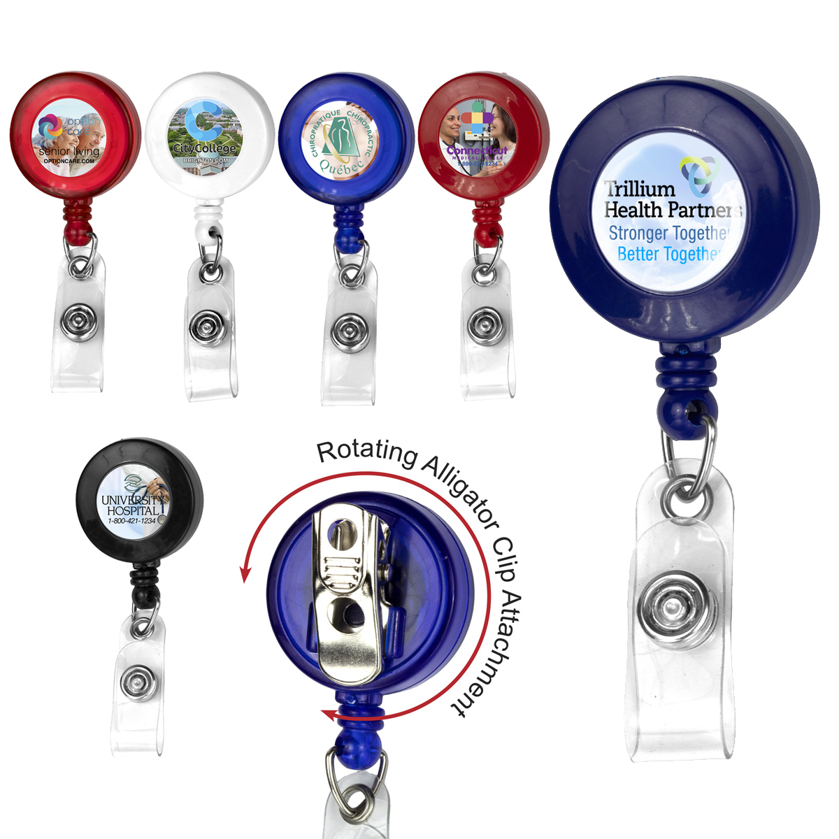 30 Cord Round Retractable Badge Reel | Everything Branded USA
