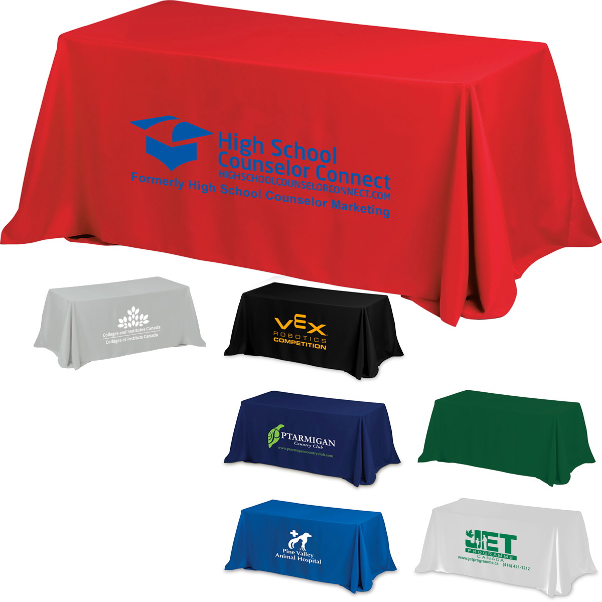 4 Sided Throw Style Table Covers