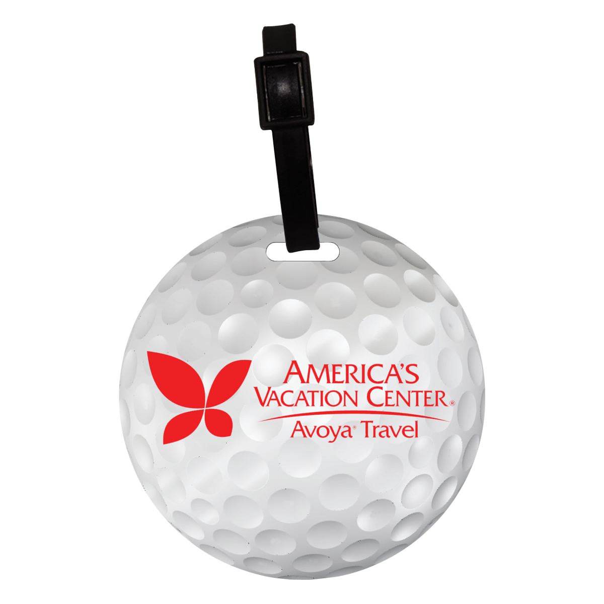 Recycled Mini Golf Ball Luggage Tag Innovation Line