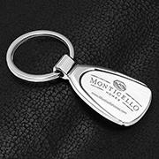 """""""Droplet"""" Economy Laser Engraved Metal Keyholder"""