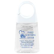 """ClipCap"" 1.35 Oz Hand Sanitizer Antibacterial Gel in Clip Cap Bottle (Spot Color Print)"