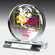 "7504G-2S (Screen Print), 7504G-2L (Laser) - Globe Award - 5"" Dia"