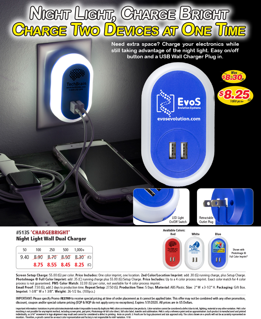 5135 Night Light Wall Charger