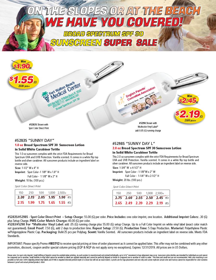 Sunscreen Sale