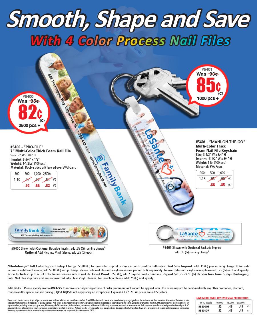4 Color Process Nail File