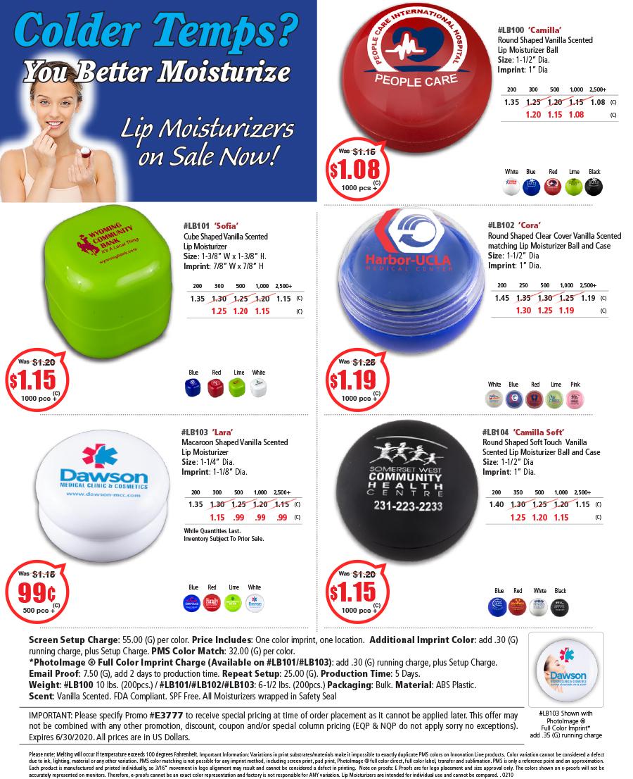 LB100 LB101 LB102 LB103 LB104 Lip Moisturizers