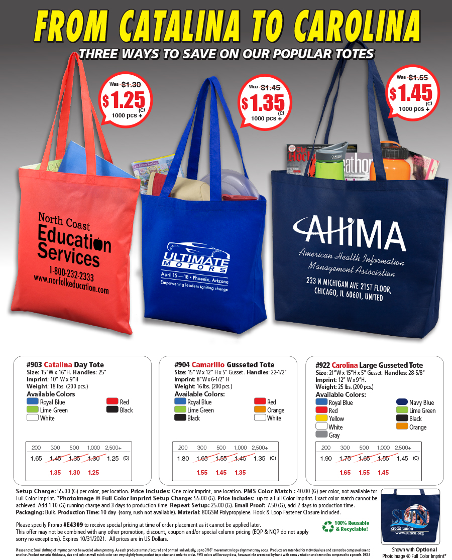 903 904 922 Popular Tote Collection Special