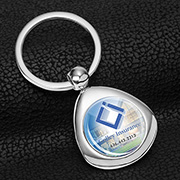 """Infini"" Metal Keyholder with PhotoImage ® Full Color Domed Imprint*"