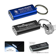 3 LED Ultra Thin Aluminum Keychain Keylight