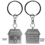 """The Cottage"" Laser Engraved Metal Keyholder"