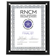 "Certificate Holder Clear on Black - 8 1/2"" x 11"" Insert"