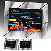 1440S (Screen Print), 1440L (Laser), 1440P (4Color Process) - Striped Visionary Plaque