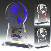 2061S (Screen Print), 2061L (Laser), 2061P (4Color Process) - Tall Globe Award
