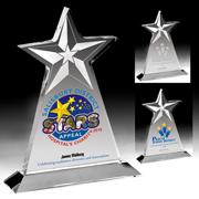 2063S (Screen Print), 2063L (Laser), 2063P (4Color Process) - Vertical Star Award