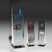 2225S (Screen Print), 2225L (Laser) - Angeled Obelisk Award - 9 1/2""