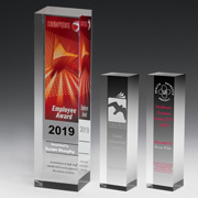 "2226S (Screen Print), 2226L (Laser), 2226P (4Color Process) - Monument Obelisk Award - 9 1/2"""