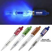 """Vicente"" Light Up Pen with BLUE Color LED Light"