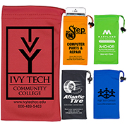 """Clean-n-Carry"" Spot Color Microfiber Drawstring Pouch For Cell Phones, Eyeglasses and Other Accessories"
