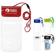 """""""Truckee"""" Clear Touch Through Water-Resistant Cell Phone and Accessories Carrying Case with 35"""" Adjustable Breakaway Lanyard"""