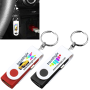 """Prague"" USB Car Charger and Adapter with Detachable Swivel Keychain (PhotoImage Full Color)"