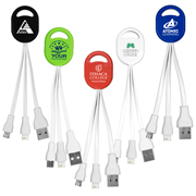 """Ogden"" 2-in-1 Charging Cable For Cell Phones and Tablets - Spot Color"
