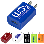 """Hamburg"" UL Listed USB Wall Charger & AC Adaptor - Spot Color (UL File E490050)"