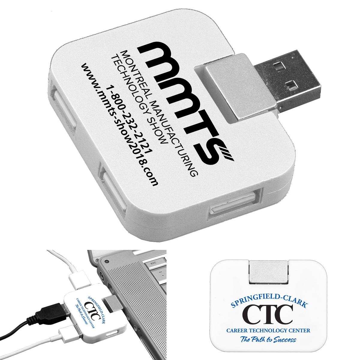"""""""Quadraport"""" 4 Port Mini USB 2.0 Hub"""
