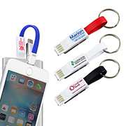 """Winslow"" Keychain 3-in-1 Cell Phone Charging Cable with Type C Adapter"