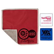 "6"" x 6"" - ""DoubleSide"" 2-in-1 Spot Color Microfiber Cleaning Cloth & Towel"