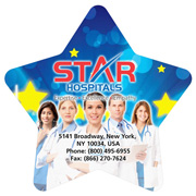 "6-1/2"" x 6-1/2"" - Washoe Star Full Color Standard Stock Shape Microfiber Cleaning Cloths in Polybag"