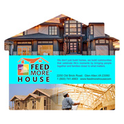 House Shaped Full Color Microfiber Cleaning Cloths in Polybag