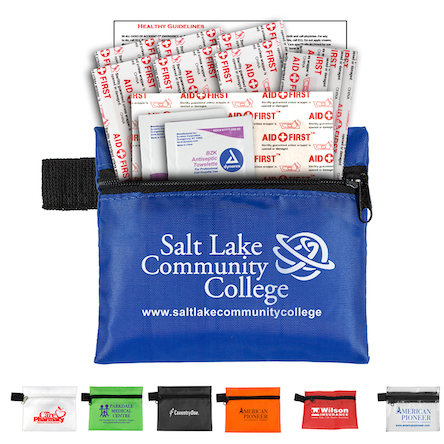 """""""Riverside"""" 13 Piece Healthy Living Pack Components inserted into Zipper Pouch"""