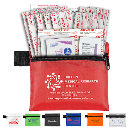 """""""Doc"""" 19 Piece Healthy Living Pack Components inserted into Zipper Pouch"""
