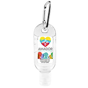 """SanGo L"" 1.8 oz Hand Sanitizer Antibacterial Gel in Flip-Top Bottle with Carabiner(PhotoImage Full Color)"