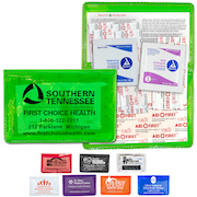 """Heal-on-the-Go L"" 10 Piece Economy First Aid Kit in Colorful Vinyl Pouch"