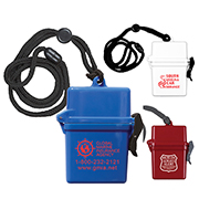 """EZ Carry"" Ultra Thin Hard Plastic Hinged Top Waterproof Container with Breakaway and Adjustable Neck Lanyard"