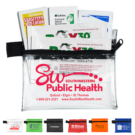 """""""Stay Safe Kit 2"""" 5 Piece Insect Repellent Kit in Zipper Pouch"""