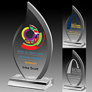 """7503S (Screen Print), 7503L (Laser), 7503P (4Color Process) - Multi-Faceted Acrylic Award - 9 1/2"""""""