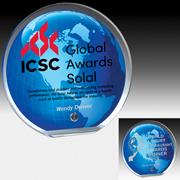 "7568-1S (Screen Print), 7568-1L (Laser) - Globe Graphic Award - 6 1/2"" Dia"