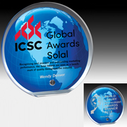 "7568-2S (Screen Print), 7568-2L (Laser) - Globe Graphic Award - 5"" Dia"