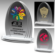 7572-2S (Screen Print), 7572-2L (Laser), 7572-2P (4Color Process) - Oval Legend Award - 6 1/4""