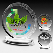 7575S (Screen Print), 7575L (Laser), 7575P (4Color Process) - Round Legend Award