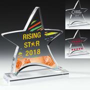 7581S (Screen Print), 7581L (Laser), 7581P (4Color Process) - Moving Star Award