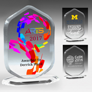 7605-2S (Screen Print), 7605-2L (Laser), 7605-2P (4Color Process) - Ocean Series Acrylic Billboard Award