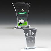"7608-2S (Screen Print), 7608-2L (Laser), 7608-2P (4Color Process) - Allure Acrylic Award - 7 1/4"""