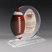 7622S (Screen Print), 7622P (4 Color Process) - Football Achievement Award