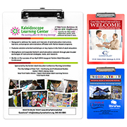 """""""McQuary FC"""" Letter Size Clipboard with PhotoImage ® Full Color Imprint* and Metal Spring Clip"""