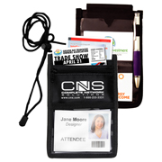 8 Function Tradeshow Bagdeholder, Neck Wallet, and Travel Passport and Boarding Pass Holder