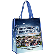 """14"""" W x 15-1/2"""" H - """"Brenda"""" Non-Woven Full Color Laminated Wrap Carry All Tote and Shopping Bag"""